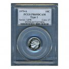 1979S 1979-S ROOSEVELT DIME - TYPE 1 - CERTFIFIED PCGS PR69 DCAM PF69 UC