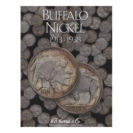 HARRIS FOLDER - BUFFALO NICKELS - 1913-1938 - SLOTS FOR A COMPLETE COLLECTION
