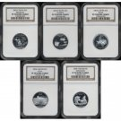 2004-S 2004S STATE QUARTER SET - SILVER - NGC PF70 UC PR70 DCAM - SHIPPING INCLUDED