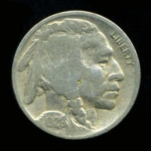 1926-D 1926D BUFFALO (INDIAN HEAD) NICKEL - HALF HORN - VG - VERY GOOD