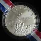 2005 MARINE CORPS COMMEMORATIVE UNCIRCULATED SILVER DOLLAR - FREE PRIORITY MAIL AND INSURANCE