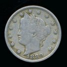 "1889 LIBERTY HEAD ""V"" NICKEL - F - FREE SHIPPING"