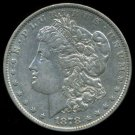 1878 MORGAN DOLLAR - 7 TAIL FEATHERS REVERSE OF 1879 - 90% SILVER - XF40 EF40 - FIRST YEAR OF ISSUE