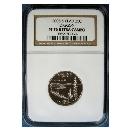 2005-S 2005S OREGON STATE QUARTER - CLAD - CERTIFIED NGC PF70 UC PR70 DCAM