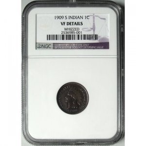 1909-S 1909S INDIAN HEAD CENT - KEY DATE - VFDETAILS - NGC CERTIFIED - REGISTERED MAIL INCLUDED