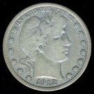 1912-D 1912D BARBER HALF DOLLAR - 90% SILVER - F15