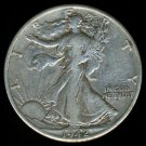 1942-D 1942D WALKING LIBERTY HALF DOLLAR - 90% SILVER - VF30
