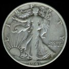 1941-S 1941S WALKING LIBERTY HALF DOLLAR - 90% SILVER - F