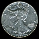 1942 WALKING LIBERTY HALF DOLLAR - 90% SILVER - XF DETAILS