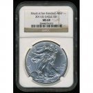 2011(S) SILVER EAGLE - 99.9% FINE SILVER - CERTIFIED NGC MS69