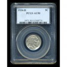 1934-D 1934D BUFFALO (INDIAN HEAD) NICKEL - PCGS CERTFIFIED - AU50