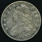 1830 CAPPED BUST HALF DOLLAR - 90% SILVER - XF40 EF40 - EXTRA FINE - FREE SHIPPING & INSURANCE