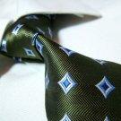 Pure silk tie SW1595,green check