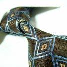 Brown silk necktie SW1333