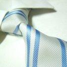PAUL white stripe silk necktie SW1020