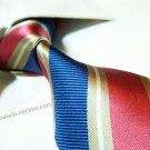 100% silk tie SW2002,mixed color stripe,extra-long