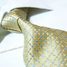 100% silk tie SW2038,yellow check