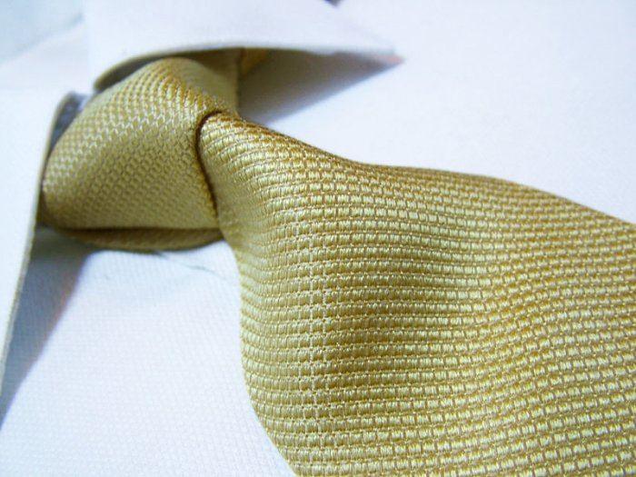 100% silk yellow tie SW2607