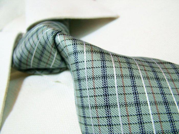 100% silk tie SW2611,green check
