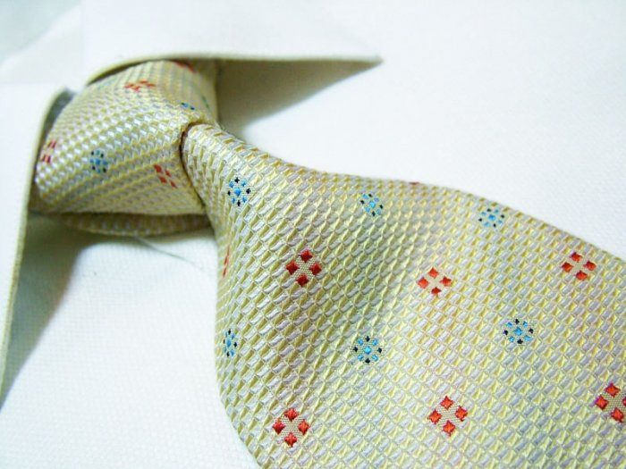 100% silk tie SW2640,yellow check