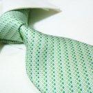 100% silk green tie SW2718