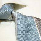 100% silk tie SW2763,blue/grey stripe