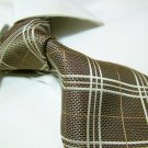 100% polyester tie PL03,extra-long golden check