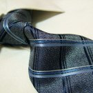 100% polyester tie PL27,extra-long grey check