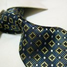 100% polyester tie PL33,extra-long navy blue check