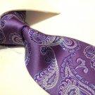 100% Silk Tie SW2875,purple paisley
