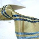 100% Silk Tie SW2887,Golden check