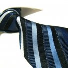 Pure Silk Tie SW2904,blue/white stripe