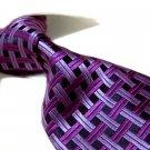 Pure Silk Tie SW2909-Purple check