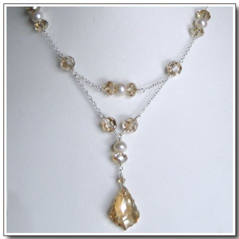 Baroque Drop Double Necklace
