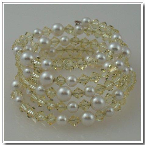 Stacked Crystal Wrap Bracelet