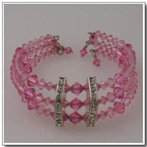Tripe Row Wrap Bracelet