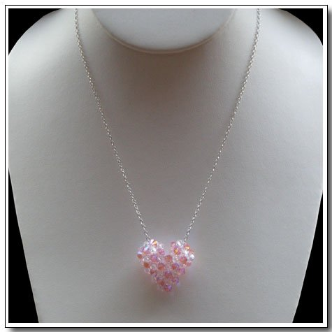 Puffy Heart Necklace - Large/Dual Color