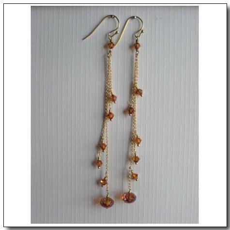Triple Chain Duster Earrings
