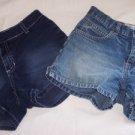2 pair Old Navy blue jean shorts girls short 10 8 BTS