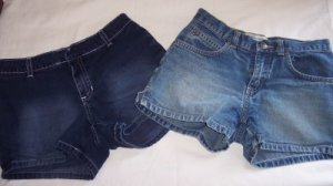 2 pair Old Navy blue jean shorts girls short 10 8 BTS