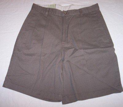 NWT Bill Blass dark khaki brown relaxed fit shorts Mens 30