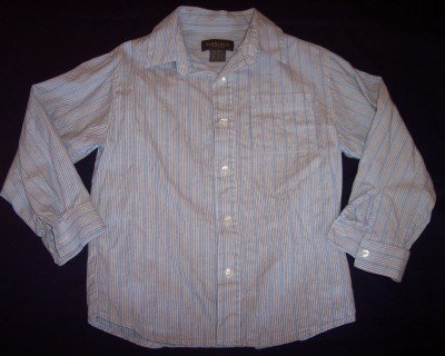 Van Heusen blue pin striped long sleeve shirt boys 7X  7 BTS