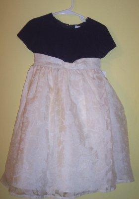 NWT Green Dog ivory & navy holiday twirly dress layered skirt SZ 4 4T $65