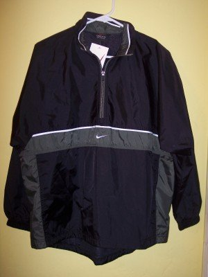 NWT Nike black & green logo windbreaker jacket boys L 14 16