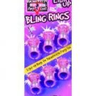 Bachelorette party outta control light up bling rings - pack of