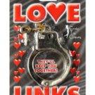 Gold plastic love links cuffs