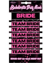 Bachelorette party bands - 1 bride & 6 team bride bands