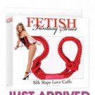 Fetish fantasy series silk rope love cuffs - red