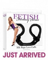 Fetish fantasy series silk rope love cuffs - black