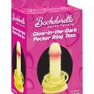 Bachelorette party favors pecker toss - glow in the dark